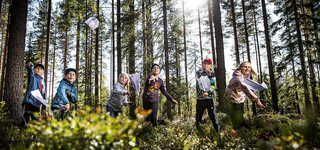 lapset-metsassa